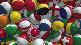 Sfere di calcio di caduta royalty illustrazione gratis