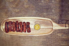 Sfere di carne tradizionali dell'alimento Immagini Stock