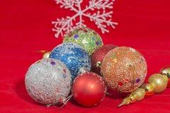 Sfere di Christmass Immagini Stock