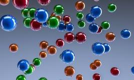 sfere di colore dell'estratto 3D Fotografie Stock Libere da Diritti