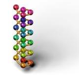 Sfere di colore e di spirale Fotografia Stock
