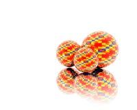 Sfere di colore rosso di Christamas Fotografia Stock Libera da Diritti