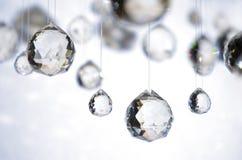 Sfere di cristallo d'attaccatura Fotografia Stock Libera da Diritti