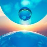 sfere di cristallo di galleggiamento del fondo Fotografie Stock Libere da Diritti
