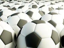 Sfere di gioco del calcio Fotografie Stock Libere da Diritti