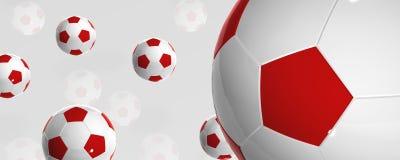 Sfere di gioco del calcio Immagine Stock