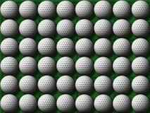 sfere di golf su erba verde Fotografia Stock Libera da Diritti