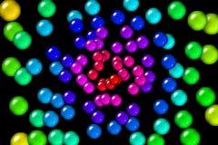 Sfere di gomma del Rainbow Immagini Stock