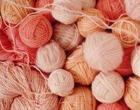 Sfere di lana Immagine Stock
