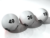 Sfere di lotteria Immagine Stock