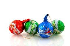 Sfere di natale del cioccolato Immagine Stock