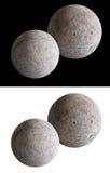 Sfere di pietra della luna Fotografia Stock