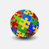 Sfere di puzzle Fotografia Stock Libera da Diritti
