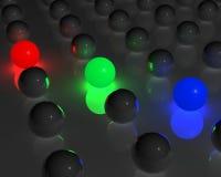 Sfere di RGB Fotografia Stock