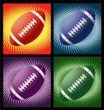 Sfere di rugby con le righe priorità bassa Fotografia Stock