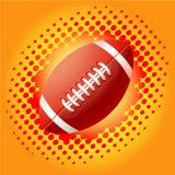 Sfere di rugby e haftone rossi Immagini Stock