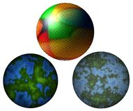 3 sfere di semitono Immagine Stock
