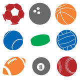 Sfere di sport Fotografia Stock Libera da Diritti