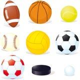 Sfere di sport Fotografie Stock Libere da Diritti