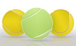 Sfere di tennis Fotografie Stock