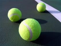 Sfere di tennis Immagine Stock