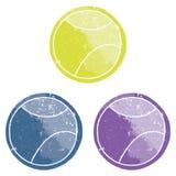 Sfere di tennis di Grunge multicolori Fotografie Stock Libere da Diritti