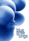 Sfere di vetro blu astratte Fotografia Stock