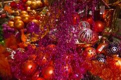 Sfere di vetro di Christmass Immagine Stock