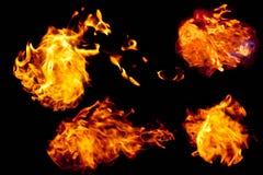 Sfere e linguette di fuoco Immagini Stock