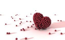 Sfere nel modulo del cuore Fotografia Stock