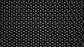 Sfere nere che riempiono lo schermo dal fondo alla cima Fotografia Stock