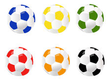 Sfere per gioco del calcio Fotografia Stock