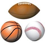 Sfere realistiche di sport Fotografia Stock Libera da Diritti