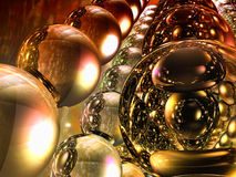 Sfere riflettenti di vetro astratte illustrazione di stock