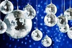 Sfere rispecchiate della discoteca con i punti luminosi Fotografia Stock Libera da Diritti