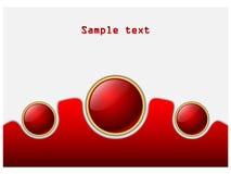 Sfere rosse astratte Fotografia Stock