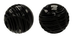 Sfere scure dell'estratto 3D Fotografia Stock
