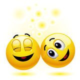 Sfere sorridenti Fotografia Stock Libera da Diritti