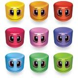 Sfere sorridenti a forma di cilindro Fotografia Stock Libera da Diritti