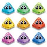 Sfere sorridenti a forma di piramide Fotografie Stock