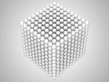 Sfere trasparenti o forma del cubo delle perle Fotografia Stock
