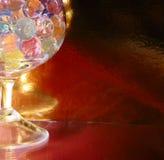 Sfere variopinte astratte in vetro Fotografia Stock