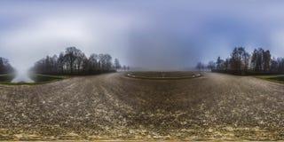 Sferisch panorama 360 graden in het bos Royalty-vrije Stock Foto
