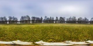 Sferisch panorama 360 graden in het bos Royalty-vrije Stock Fotografie