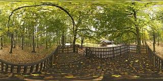 Sferisch panorama 360 graden van Wildpark Pong Germany Stock Afbeeldingen