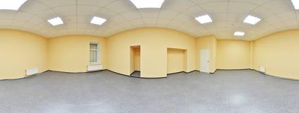 Sferische 360 van de panoramagraden projectie, panorama in binnenlandse lege ruimte in moderne vlakke flats Stock Afbeelding