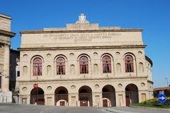The Sferisterio. Is an open-air theatre in Macerata, Italy Royalty Free Stock Photo