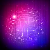 sfery purpurowa technika ilustracji