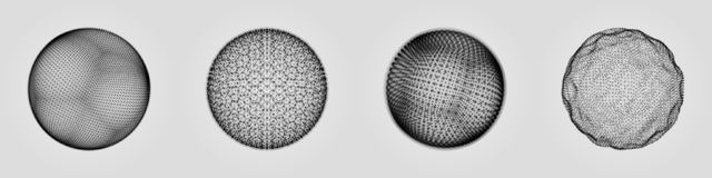 Sfery składać się z punkty Abstrakcjonistyczna kuli ziemskiej siatka Sfery ilustracja 3D siatki projekt 3D technologii styl ilustracji