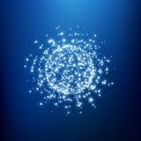 Sfery składać się z punkty Globalni cyfrowi związki Abstrakcjonistyczna kuli ziemskiej siatka Wireframe sfery ilustracja 3d siatk Zdjęcia Stock